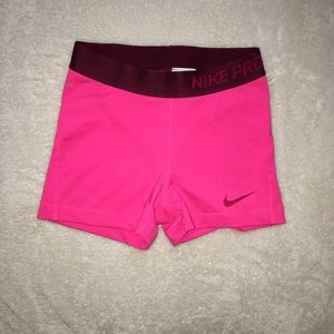 Nike Pro Fitted activewear running shorts